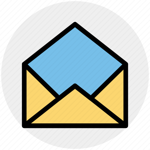 email, envelope, mail, message, open letter, read icon