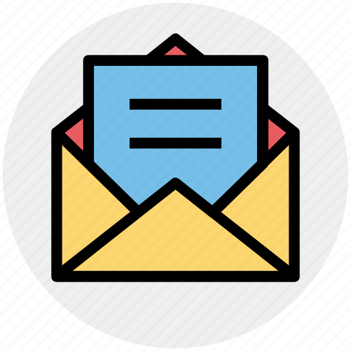 envelope, letter, mail, message, open envelope, sheet icon
