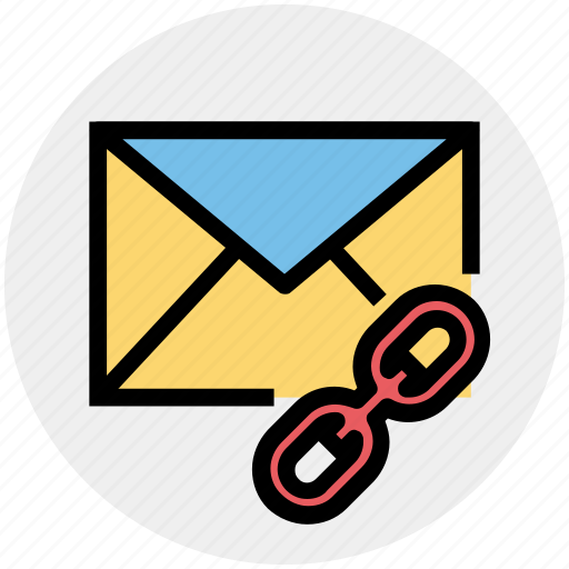 chain, envelope, letter, link, message, url icon