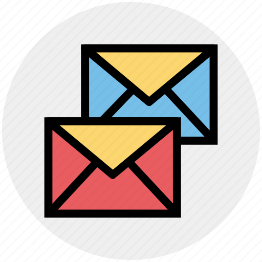 double, email, envelopes, letter, mail, messages icon