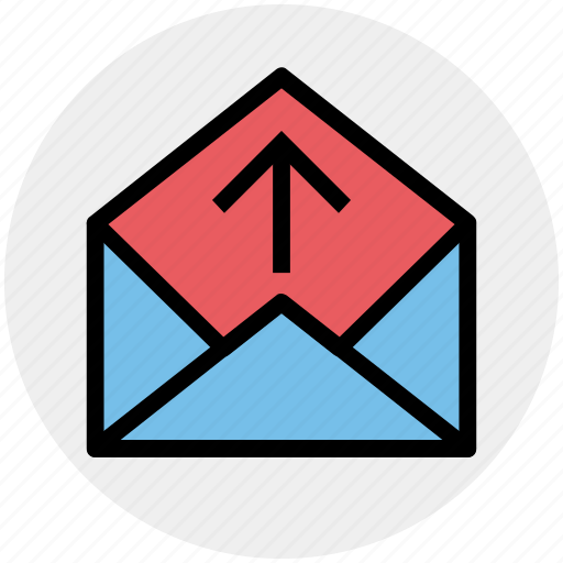 email, inbox, letter, message, open, up icon