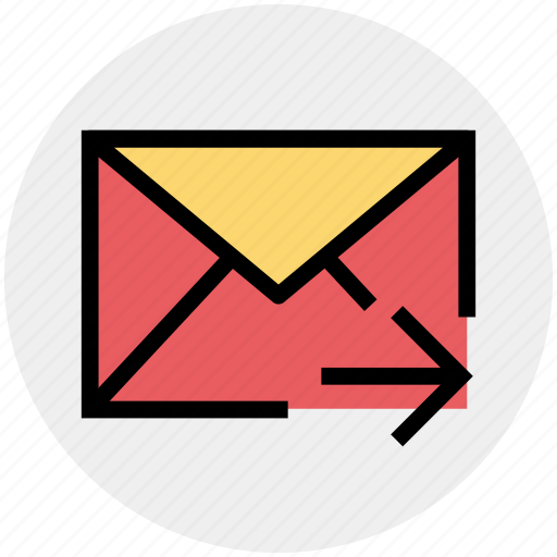 email, forward, letter, mail, message, right arrow icon