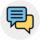 chatting, comments, conversion, message, sms, text icon