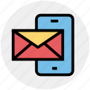 envelope, letter, mail, message, mobile icon