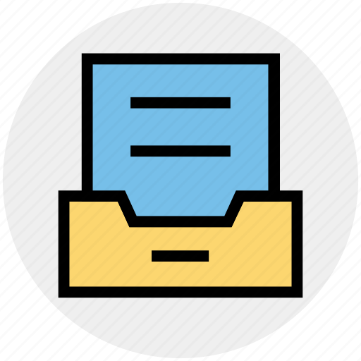email, file, folder, inbox, mail, sheet, text icon