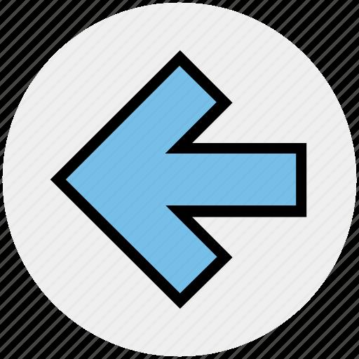 arrow, left, left arrow, receive, received icon