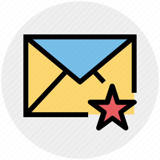 Envelope, favorite, letter, mail, message, star icon - Download on Iconfinder