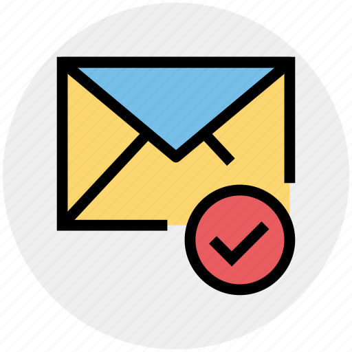 approved, email, envelope, letter, mail, message icon