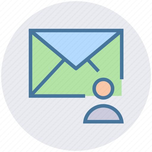 envelope, letter, mail, man, message, user icon