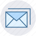 email, envelopes, letter, mail, messages icon