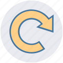 arrow, circle, refresh, reload, rotate, sync icon