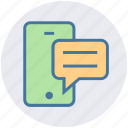 chat, feedback, message, mobile, text icon