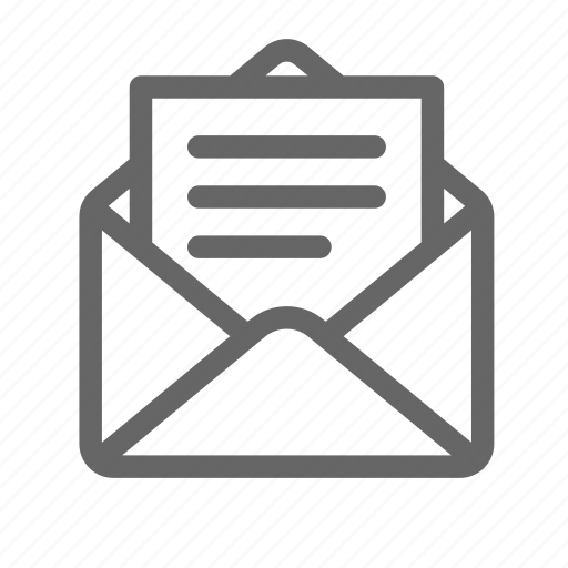 attach, document, email, file, letter icon