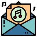 audio, email, multimedia, sound icon