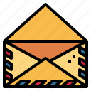 envelope, interface, mail, message icon