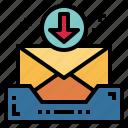 inbox, mail, symbols, tray