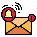 communications, letter, mail, notification icon