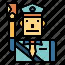 jobs, message, postman, profession icon