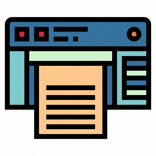 Ink, paper, printer, technology icon - Download on Iconfinder