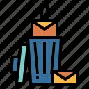 bin, erase, message, trash