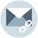 chain, envelope, letter, link, message, url