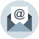 at, email, letter, message, sheet icon