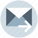 email, forward, letter, mail, message, right arrow