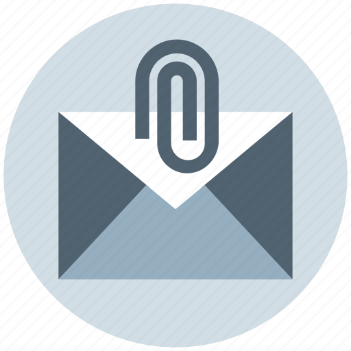 clip, email, letter, mail, message, paper clip icon