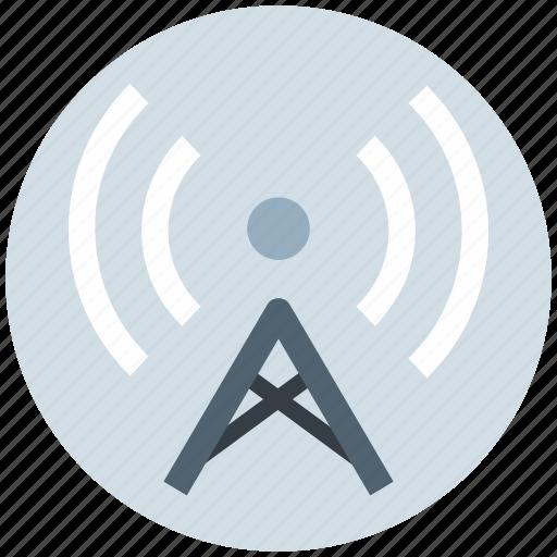 antenna, beacon, signal tower, tower, wifi signal antenna icon