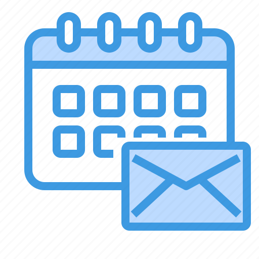 calendar, email, envelope, mail, web icon