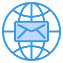 connection, email, envelope, letter, mail, web icon