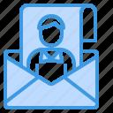 email, envelope, mail, portfolio, support, web icon