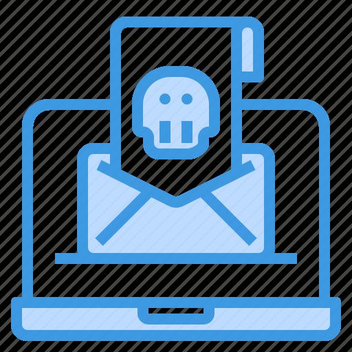 danger, email, envelope, hack, mail, web icon