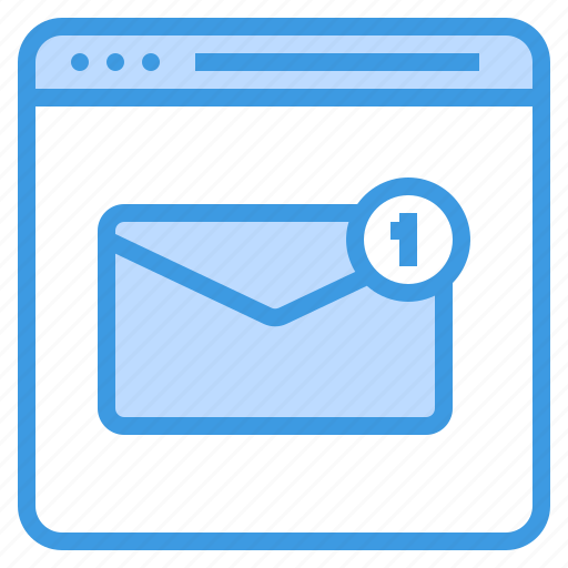 email, envelope, inbox, mail, web icon