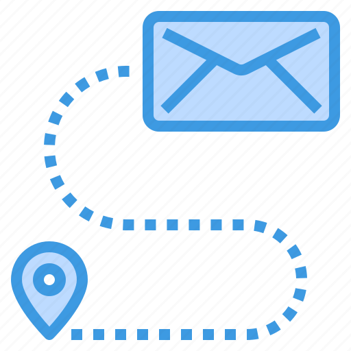 email, envelope, location, mail, web icon