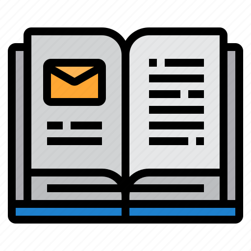 book, email, envelope, mail, web icon