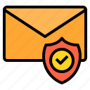 emai, email, envelope, mail, protection, web icon
