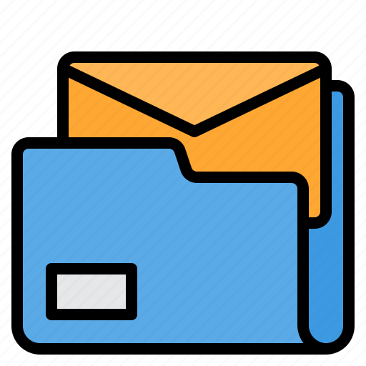 email, envelope, folder, mail, web icon