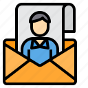 email, envelope, mail, portfolio, support, web icon
