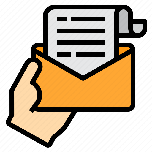 email, envelope, mail, reciept, web icon