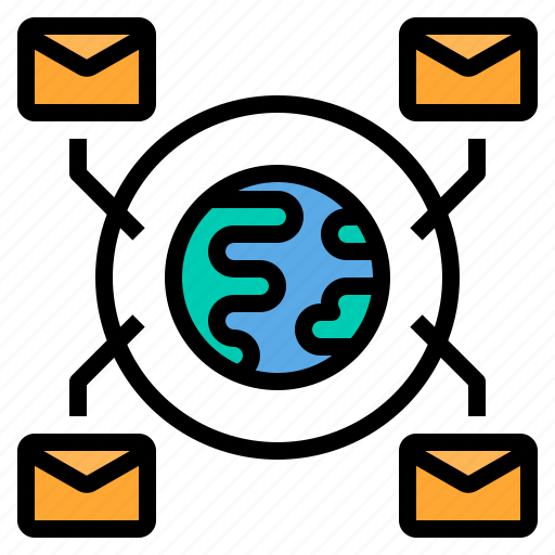 email, envelope, mail, web, wide, world icon