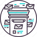 box, communication, email, letter, mail icon