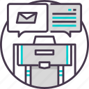 business, email, letter, mail, marketing icon