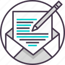 email, letter, mail, message, writing icon