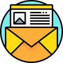 communication, email, letter, mail, message, web icon