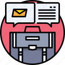 business, communication, email, letter, mail, message icon