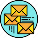 communication, email, letter, mail, message, send icon
