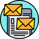 communication, email, letter, mail, message, smartphone icon