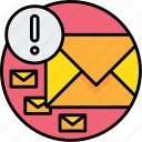 communication, email, letter, mail, message, notice, send icon