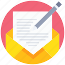 communication, email, letter, mail, message, writing icon